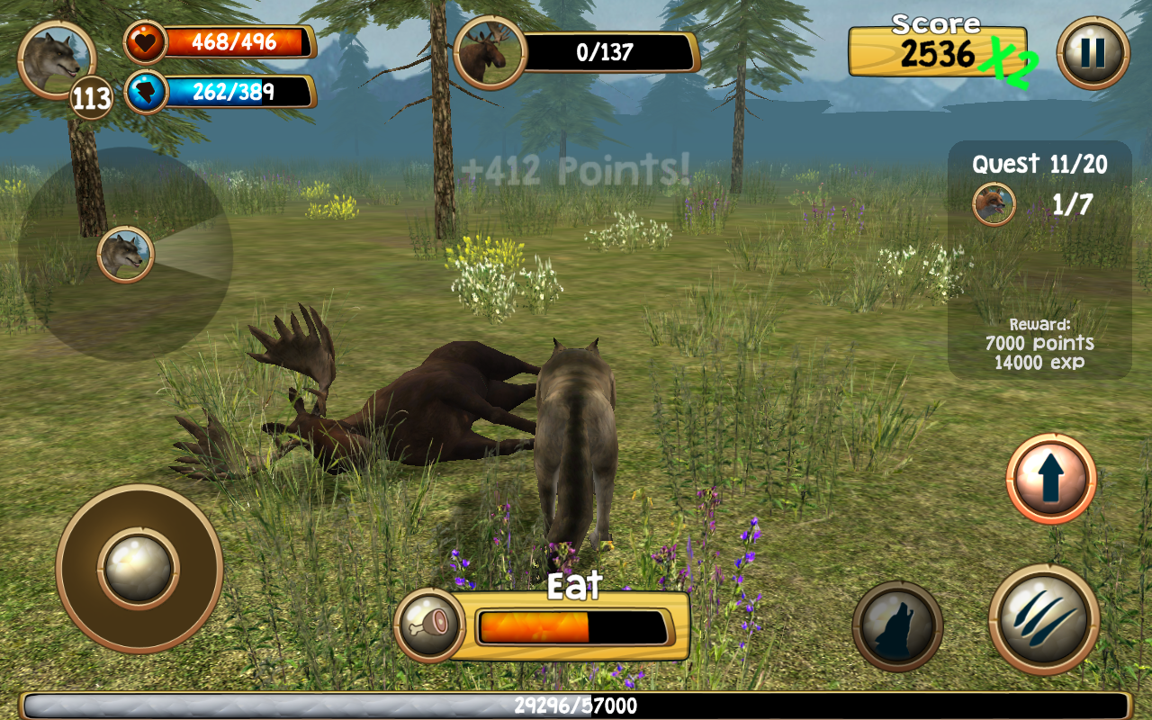 Wild Wolf Simulator 3d Screenshot