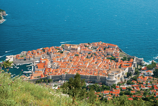 Dubrovnik-Croatia-from-above - A cruise aboard Tere Moana takes you to historic Dubrovnik, Croatia, Europe's best-preserved walled city.