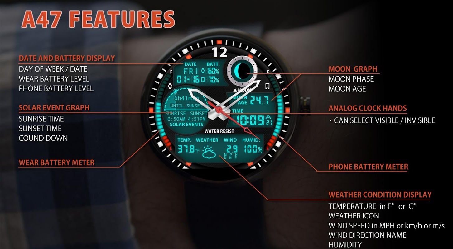 A47 Watch face for Moto 360 APK 7 0 1 Download - Free Productivity