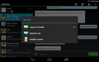 Screenshot of mysms - Dark Theme for Tablet