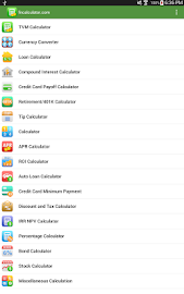 Financial Calculators Screenshot 1