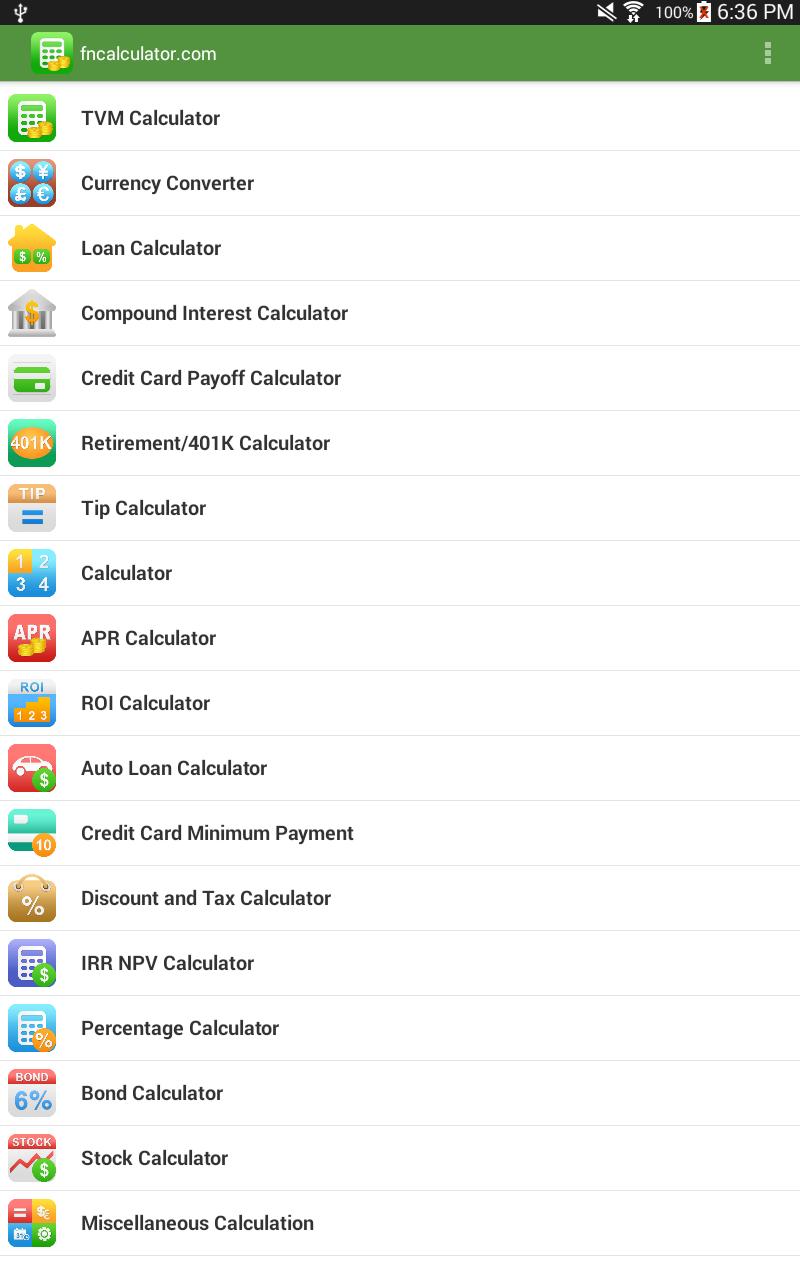 Financial Calculators screenshot #9