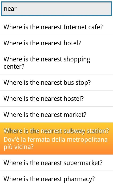 Phrasebook Italian- screenshot