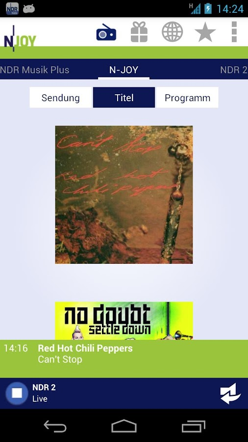 NDR Radio - screenshot