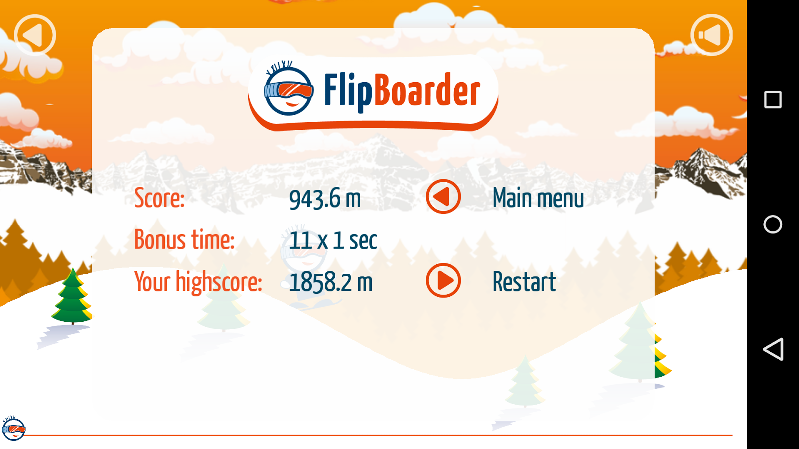 Flip Boarder - Touch Snowboard- screenshot
