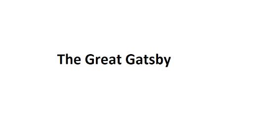 Great Gatsby Book Txt