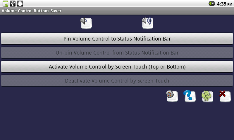 Volume Control Buttons Saver- screenshot