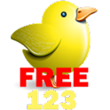 Baby's number school(bird)Free logo