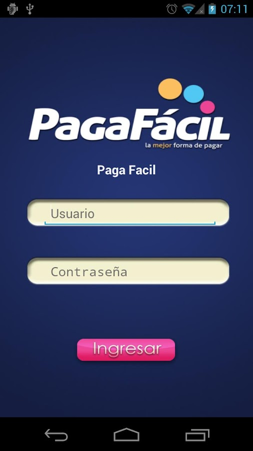 Paga Fácil- screenshot