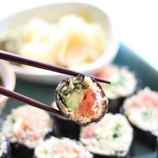 Cauliflower Rice Spicy Tuna Rolls.