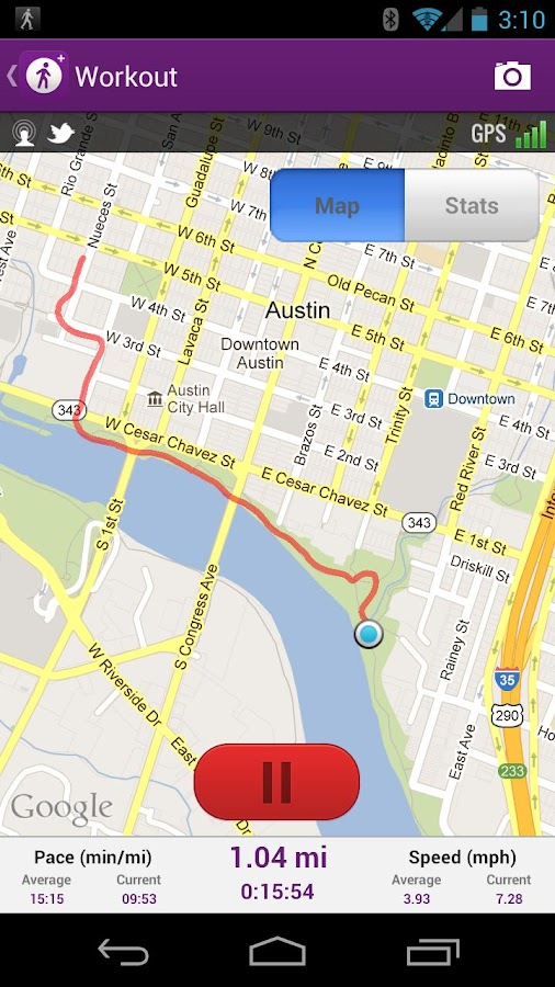 MapMyWalk GPS Walking - screenshot