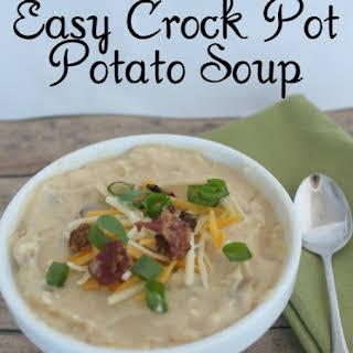Easy Crock Pot Potato Soup.