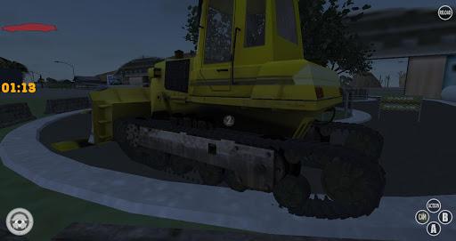 Construction Bulldozer Driving
