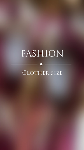 Fashion clothing sizes