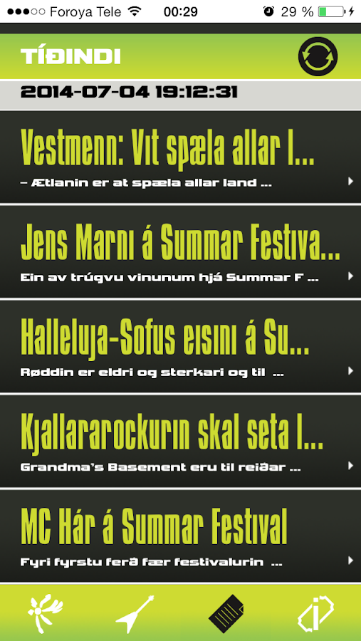 Summarfestivalurin- screenshot