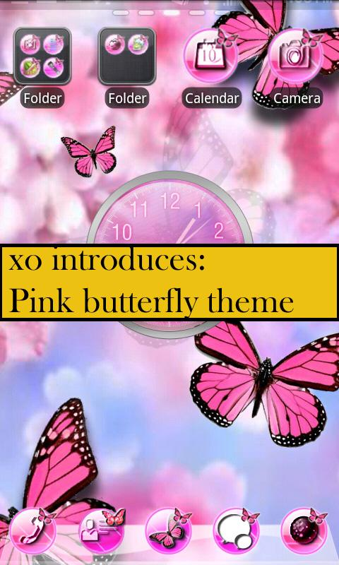 Pink Butterfly Theme 4GOLOCKER- screenshot