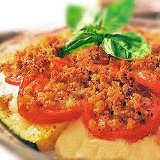 Zucchini Tomato Mozzarella Pie.