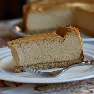 Low Fat Pumpkin Cheesecake.