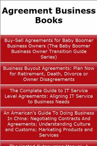 Agreement Business Books