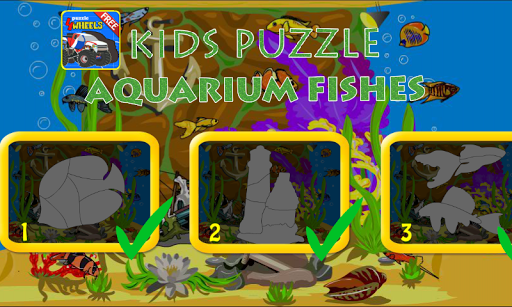 キッズパズル - 水族館の魚
