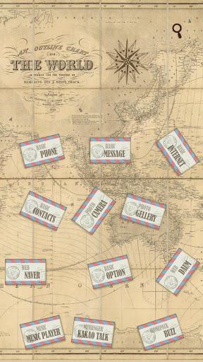 세계지도 여행 버즈런처 테마 홈팩