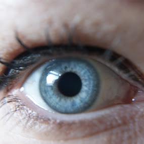 Eye. by Robin Watson - People Body Parts ( macro, blue eye, make-up, eye )