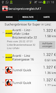 Benzinpreisvergleich AT screenshot 1