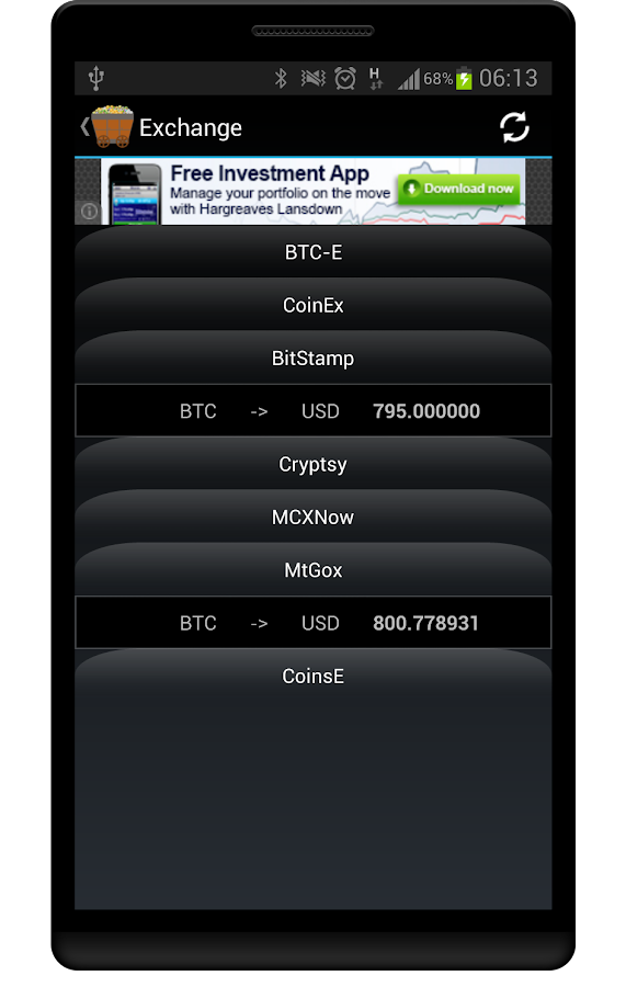 CryptCoin Monitor- screenshot