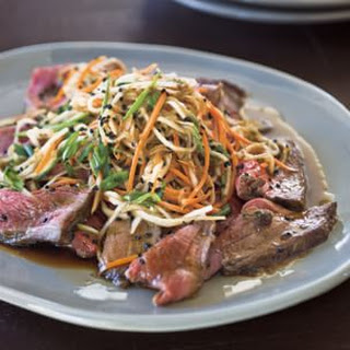 Beef Tataki with Vegetable Slaw and Ponzu