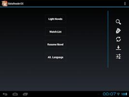 Screenshot of BakaReader EX
