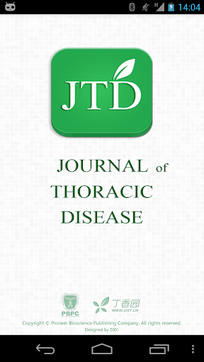 【免費醫療App】Journal of Thoracic Disease-APP點子
