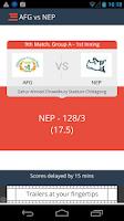 Screenshot of IPL T20 Alerts 2015