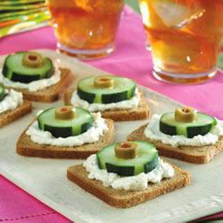 Cucumber, Olive and Rye Canapes Recipe