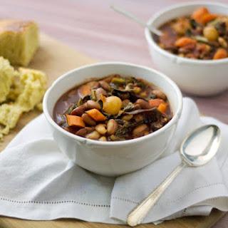 Gluten Free Southern Style Bean & Kale Soup.