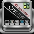 Next Launcher Theme Chrome 3D