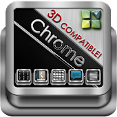 Next Launcher Theme Chrome 3D