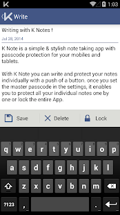 K Notes - A secure note- screenshot thumbnail