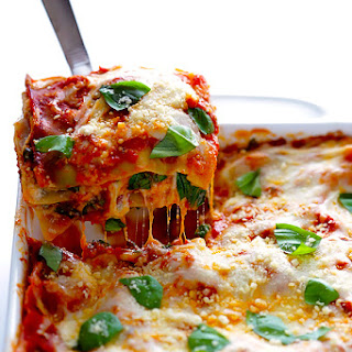 10-Minute Spinach Lasagna.