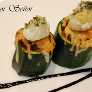 Zucchini Stuffed with Quail Egg. Poaching Eggs the Easy Way