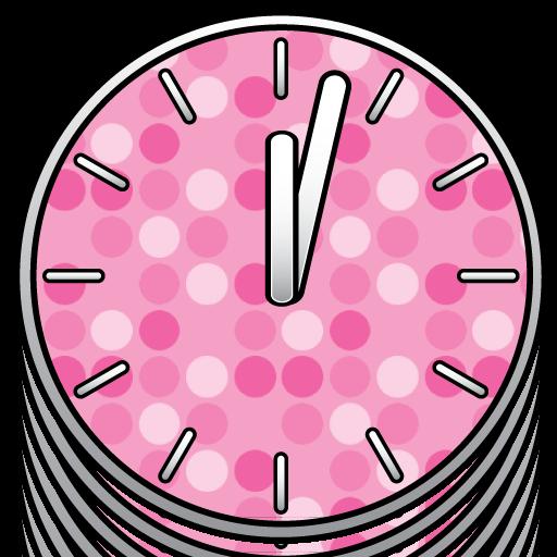 50美麗的時鐘。 LOGO-APP點子