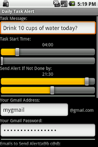 Daily Task Alert Widget screenshot 1