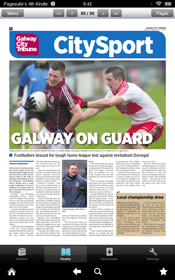 Galway City Tribune- screenshot
