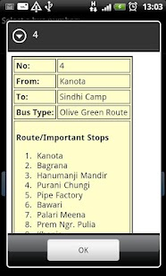 Jaipur Bus Info- screenshot thumbnail