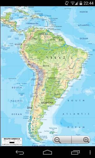 南美洲地圖