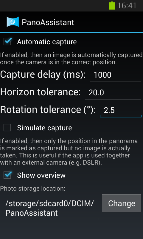 Panorama Assistant- screenshot