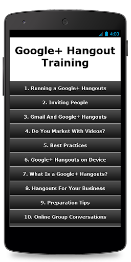 Google Hangout Training