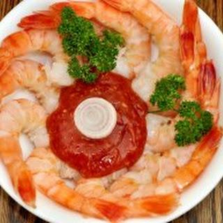 Classic Shrimp Cocktail.
