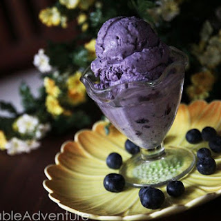 Blueberry Cardamom Ice Cream