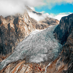 Hanging Glacier by Ray Weigand - Landscapes Mountains & Hills ( 2013, alaska, july )