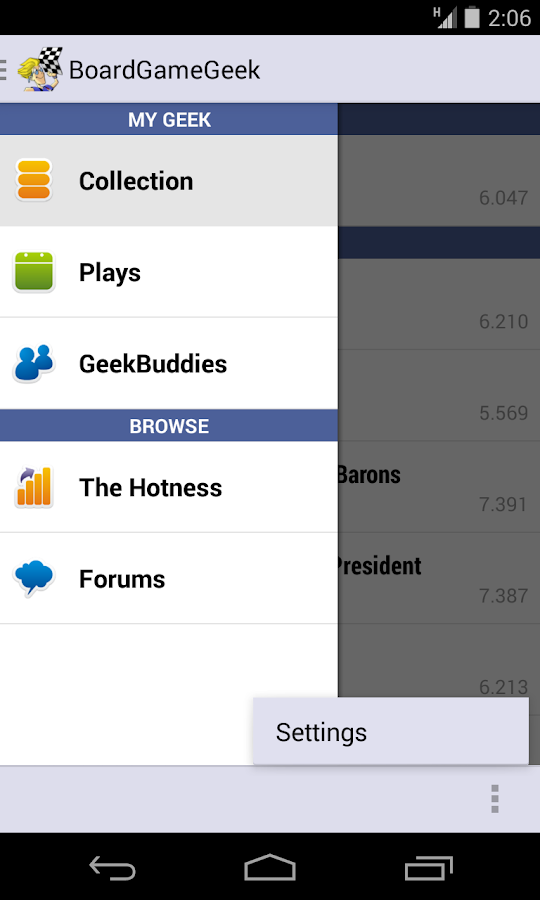 BoardGameGeek - screenshot